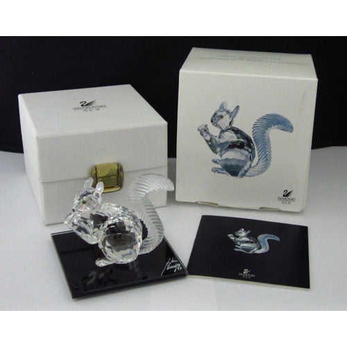 Swarovski 10Th Anniversary Squirrel Signed 7400/0970S