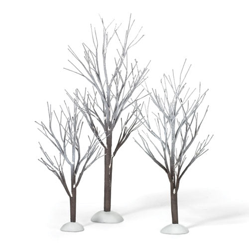 D56 First Frost Trees Set Of 3 800007