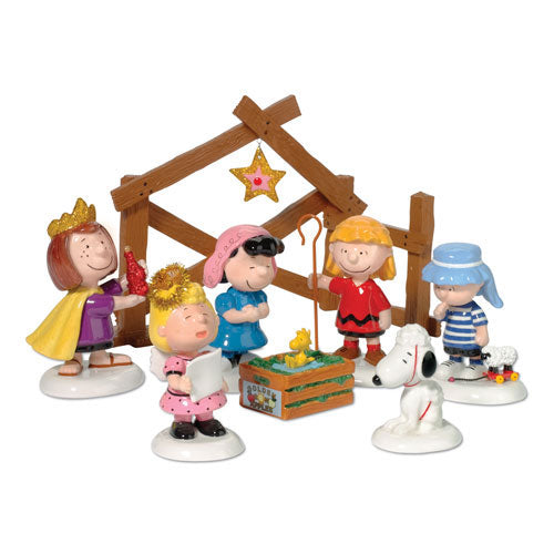 D56 Peanuts Pageant Nativity - Set Of 8 802162