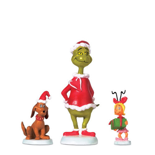D56 Grinch, Max And Cindy-Lou Who Set Of 3 804152
