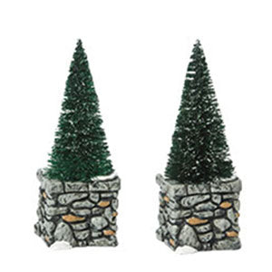 D56 Limestone Topiaries (Set Of 2) 809358