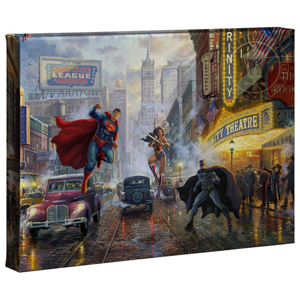 Kinkade Batman Superman Wonder Woman Gallery Wrap 10x14 82755