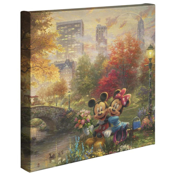 Thomas Kinkade Canvas Wraps Mickey Minnie Central Park 14x14 87932