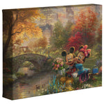 Thomas Kinkade Canvas Wraps Mickey Minnie Central Park  8x10 87950