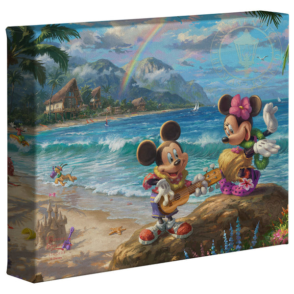 Kinkade Mickey Minnie In Hawaii Gallery Wrap 8x10 87959