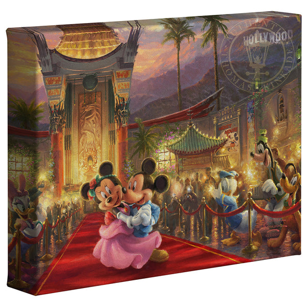 Kinkade Mickey Minnie In Hollywood Gallery Wrap 8x10 87962