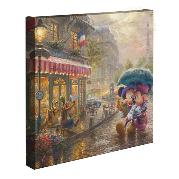 Kinkade Mickey & Minnie In Paris Gallery Wrap 14x14 89092