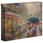 Kinkade Mickey Minnie In Paris Gallery Wrap 8x10 89098