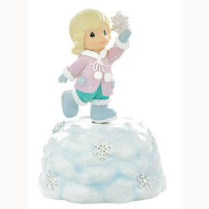 Precious Moments Girl With Snowflake Musical 990012