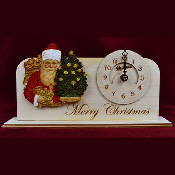 Ginger Cottages Christmas Clock - Merry Christmas CC103
