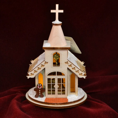 Ginger Cottages Christmas Chapel (Nativity Inside) GC102N