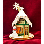 Ginger Cottages Santa's Snowflake Factory GC136