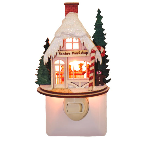 Ginger Cottages Santa's Workshop Night Light GCN101