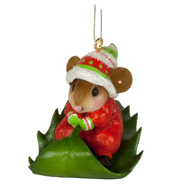 Wee Forest Folk Holly Express Ornament M629A