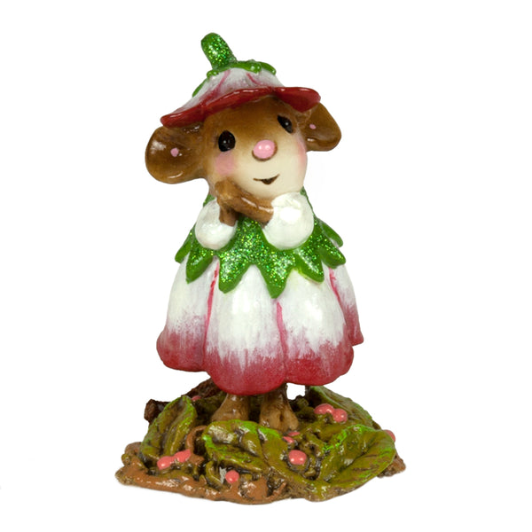 Wee Forest Folk Wee Flower Mouse Of The Month - January M640A