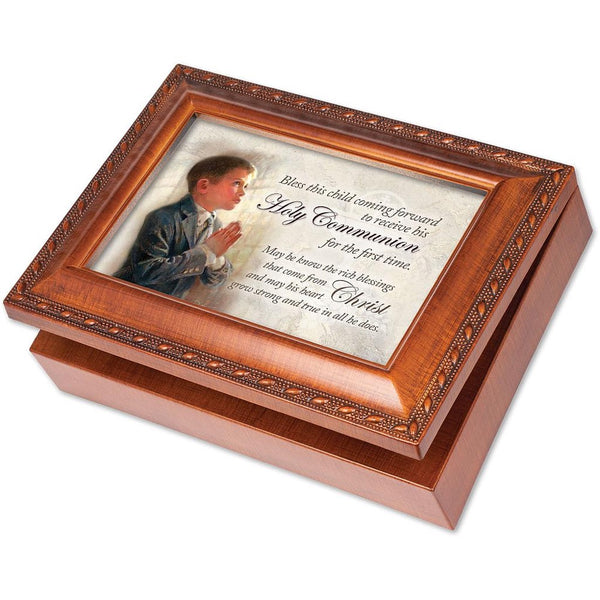 Religious/Inspirational Holy Communion Boy Music Box MB2064S