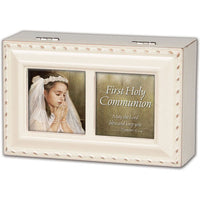 1st Communion Girl Music Box PMC8048SI