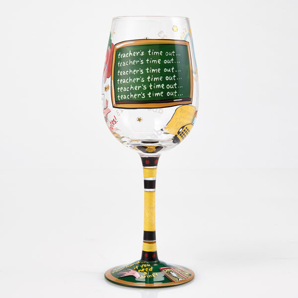 Lolita Wine Glass Teachers Time Out GLS115526P