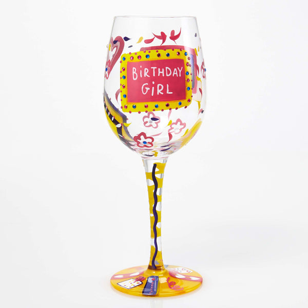 Lolita Wine Glass Birthday Girl GLS115530R