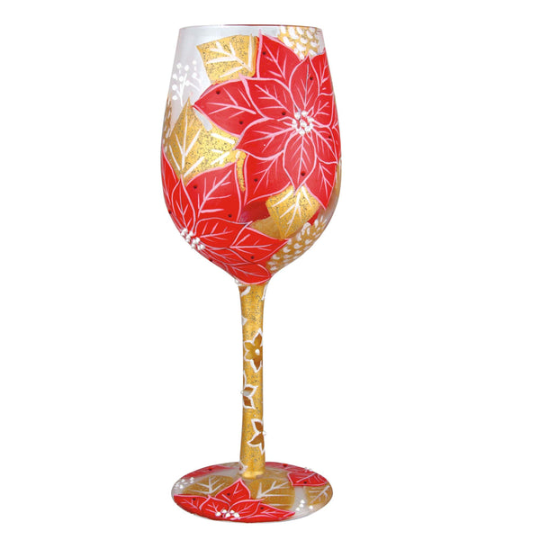 Lolita Wine Glass Poinsettia GLS115541K