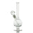 Mini Round Bong with Straight Neck - Clear - 8 Inches