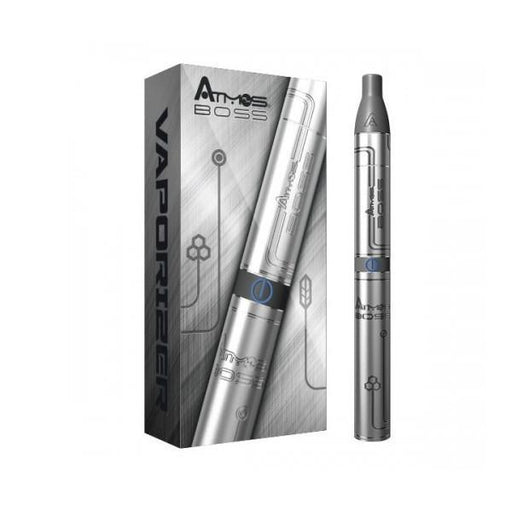 Boss Pen Vaporizer by Atmos - Dry Herb - Black & Silver