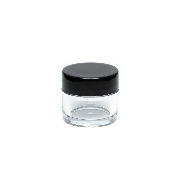 Clear Concentrate Jar - Black Lid - Screw Top - 10ml or 30ml