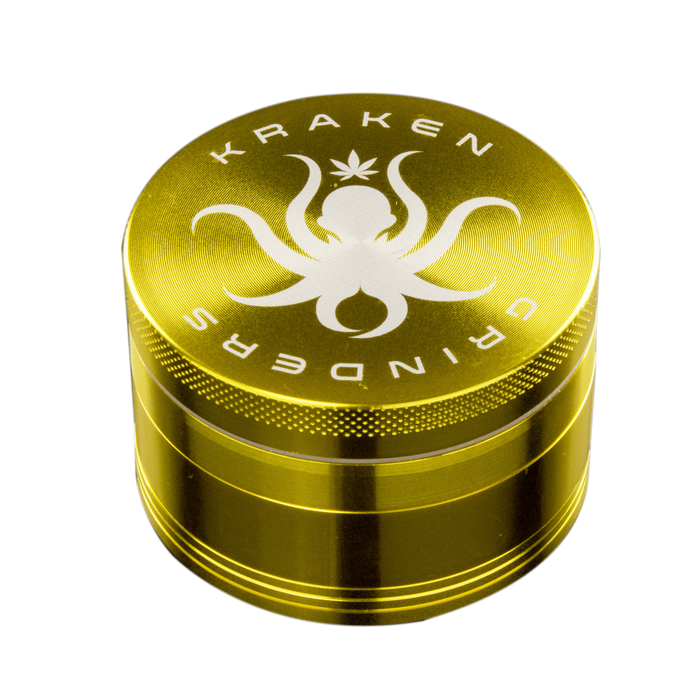 Solid Color Grinder by Kraken - 4 Piece Aluminum - 2.5 Inches - Assorted Colors