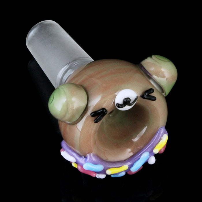 Teddy Bear Donut Bowl by Empire Glassworks - 14mm