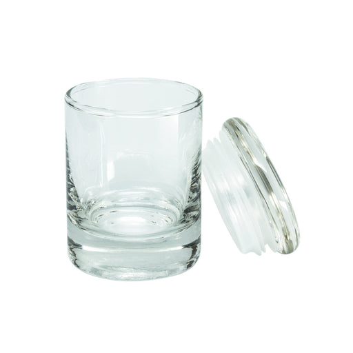 Clear Glass Pop Top Stash Jar - 90ML