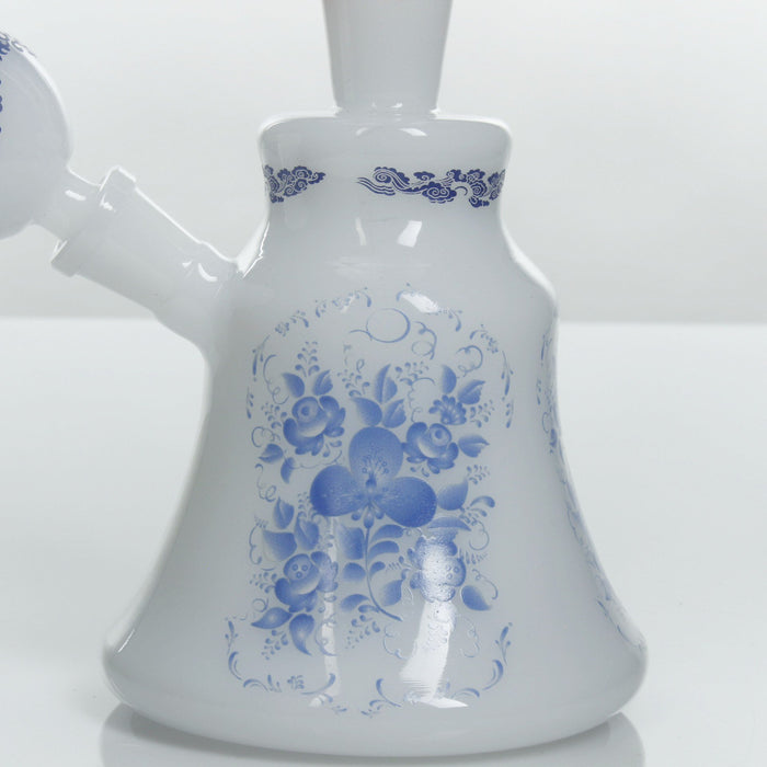 Taizong Dynasty Mini Beaker Bong by The China Glass Company - 8 Inches