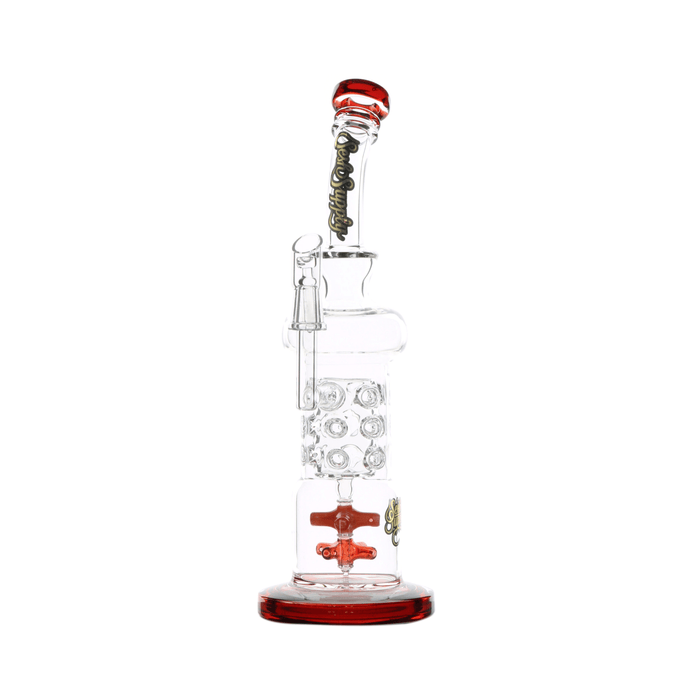 Dual Propeller Dab Rig by Sesh Supply - 12.5 Inches - Assorted Colors