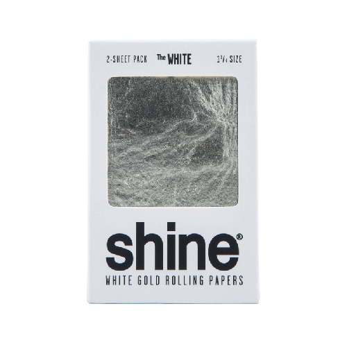 24k White Gold Rolling Papers by Shine - 2 Sheet - 1.25 Inches