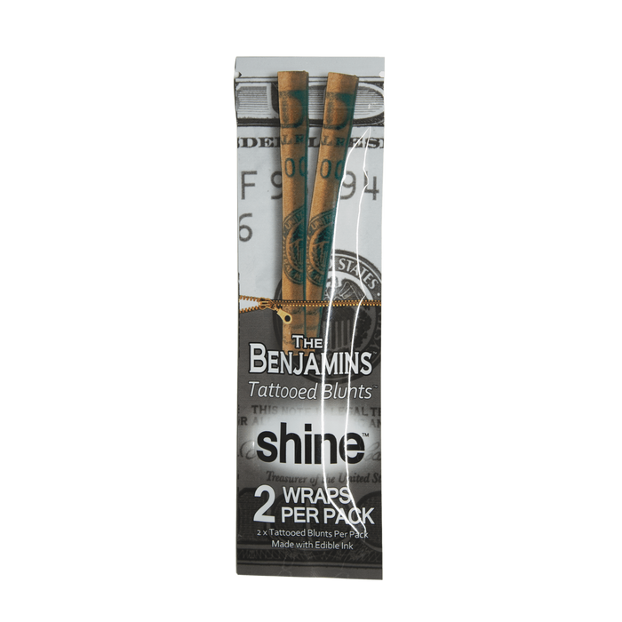 """The Benjamins"" Tattooed Blunt Wraps by Shine Papers - 2 Pack"