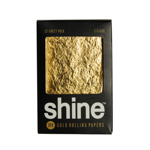 24K Gold Rolling Papers by Shine Papers - Regular Size - 12 Sheet Pack