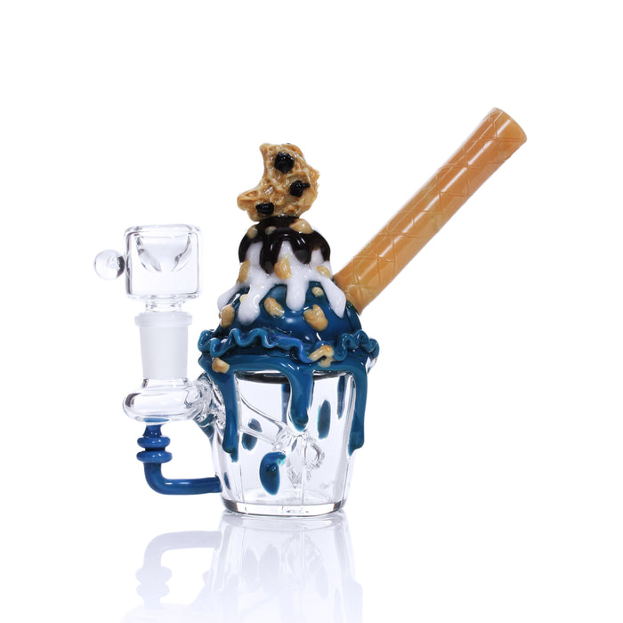 Cookie Monster Ice Cream Sundae Mini Bong by Empire Glassworks - 5 Inches
