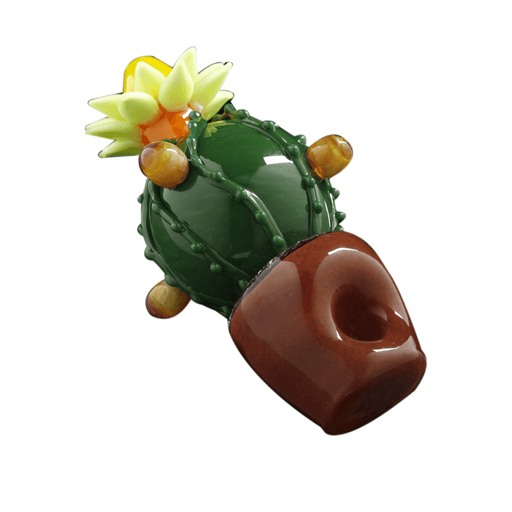 Cactus Pipe with Flower on Top - 4 Inches