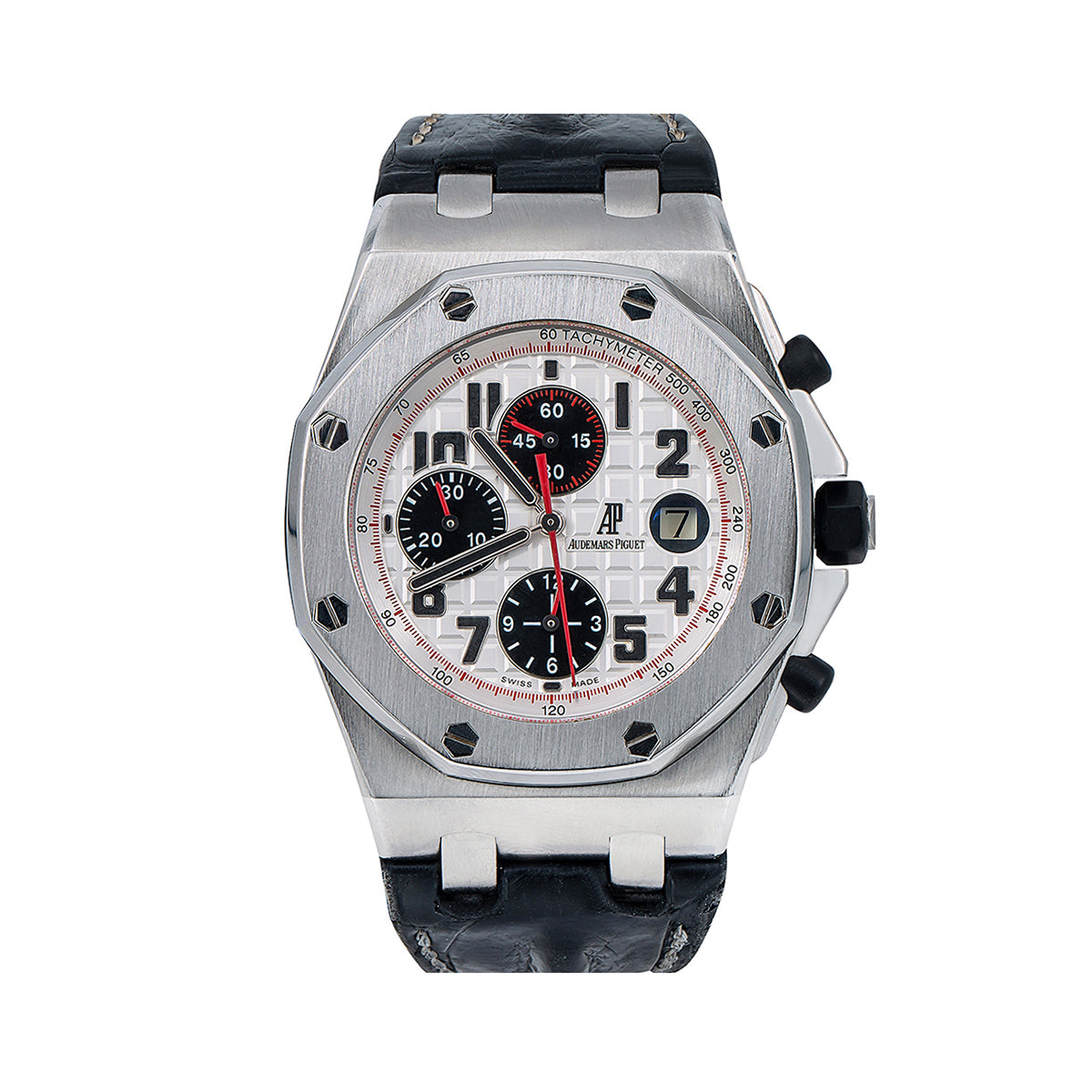 Audemars Piguet Royal Oak Offshore 26170ST 42MM White Dial With Leather Bracelet