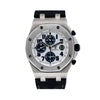 Audemars Piguet Royal Oak Offshore 26170ST 42MM White Dial With Black Leather Bracelet