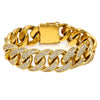18K Yellow Gold Men's Bracelet With 8.94 CT Diamonds
