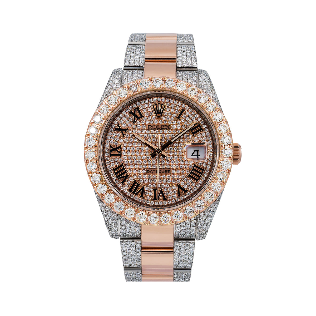 Rolex Datejust Diamond Watch, 126331 41mm, Champagne Diamond Dial With Two Tone Oyster Bracelet
