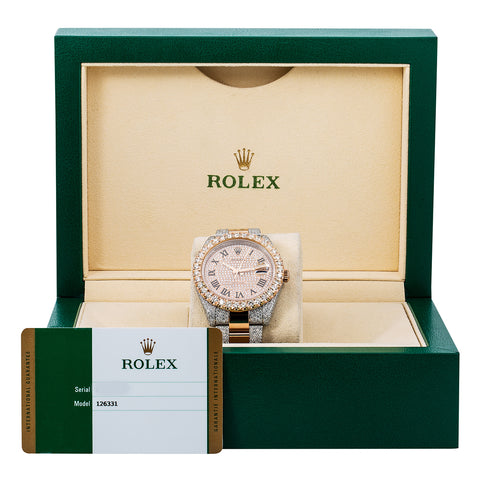 Rolex Datejust 126331 41MM Champagne Diamond Dial With Two Tone Oyster Bracelet