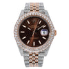 Rolex Datejust 126331 41MM Brown Dial With 22.75 CT Diamonds