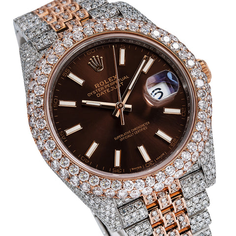 Rolex Datejust Diamond Watch, 126331 41mm, Brown Dial With 22.75 CT Diamonds