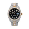 Rolex Sky-Dweller 326933 42MM Black Dial With Flower Setting 31.50 CT Diamonds