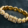 14K Yellow Gold Men's Custom Diamond Bracelet With 34.69 CT Diamonds
