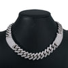 10K White Gold Men's Chocker With 34.26 CT Diamonds