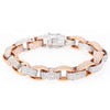 14K WHITE AND ROSE GOLD WOMEN'S BRACELET WITH 22.39 CT DIAMONDS