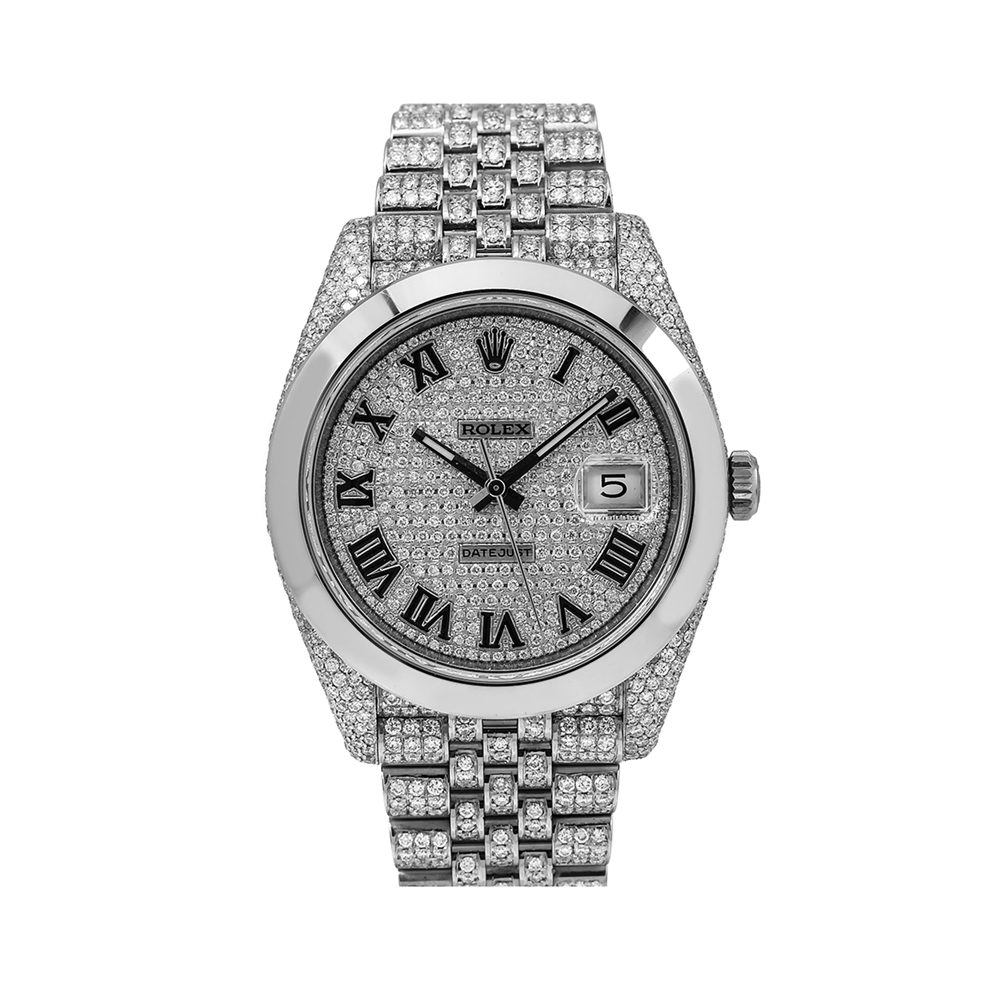 Rolex Datejust 126300 41MM Silver Diamond Dial With Stainless Steel Jubilee Bracelet