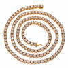 "14K Rose Gold 23"" Men's Tennis Chain With 35.50 CT Diamonds"